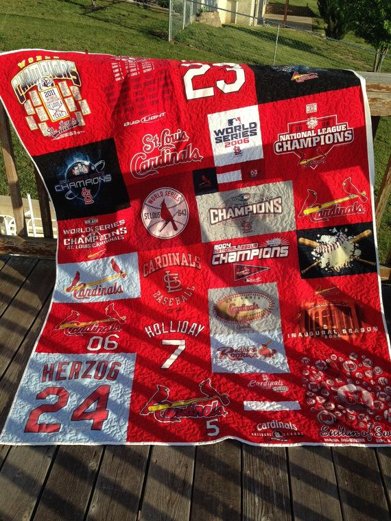 St Louis Cardinals Tshirt Quilt by JubileeQuilts on Etsy, $199.00