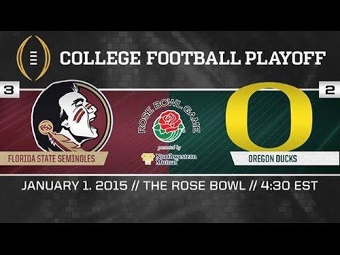 ROSE BOWL GAME: [#2] Oregon vs. [#3] Florida State | Game Highlights [Pasadena, CA] Jan. 1, 2015 | Oregon-59 FSU-20