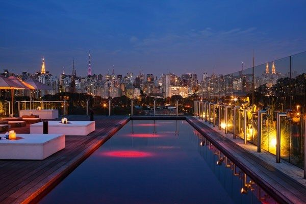 But the jewel in the crown is the sexy rooftop Skye Bar & Restaurant helmed by French celebrity Chef Emmanuel Bassoleil. At 25 metres high, it has the best views in town, not to mention a red-tiled, 24-metre pool that, come Fashion Week, throngs with the front-row flash pack.