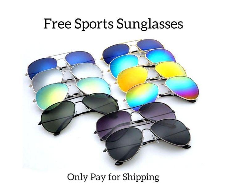 Free Fashion Sunglasses-Sports Sunslasses for Men/Women