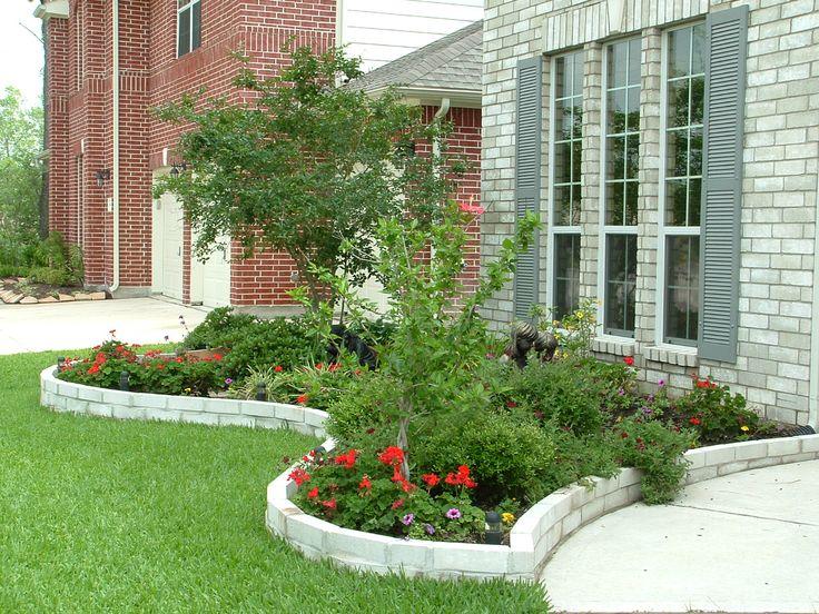 Raised brick garden for front yard