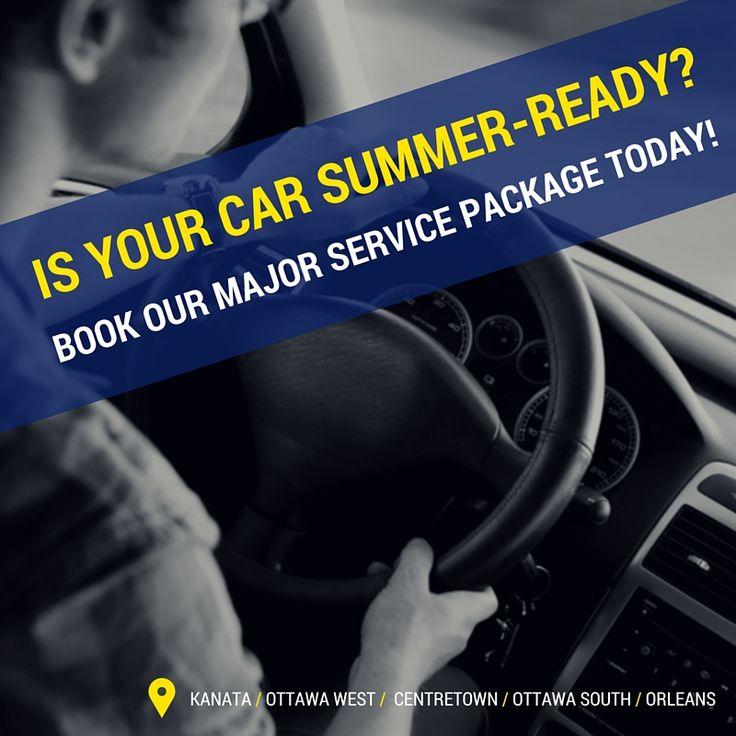 Is your car summer-ready? Book our major service package today! http://garysautomotive.com/make-apt/ #garysautomotive