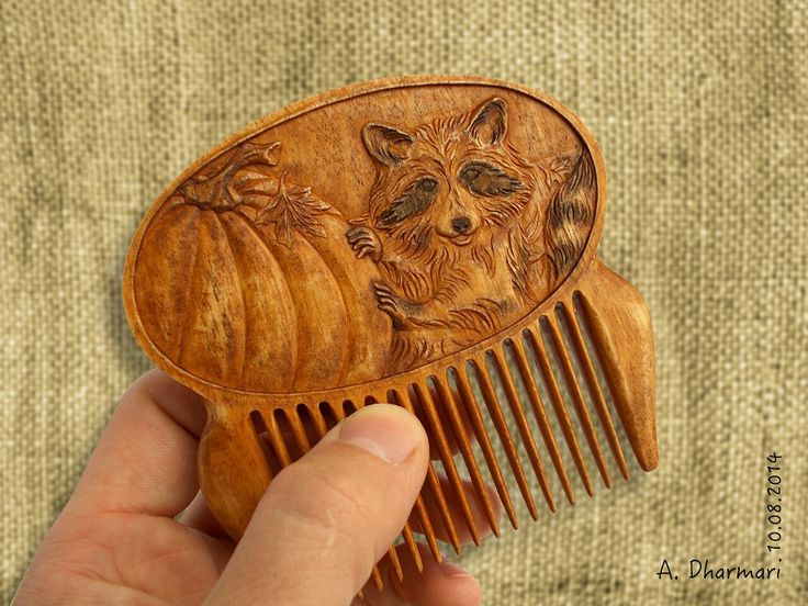 "Handmade woodcarving comb ""Tricky Raccoon"" hairpin by Dharmari Workshop, make to order.  #wood_art #gift_for_her #hairpin #comb #wooden_comb #wooden_hairpin #fork #hairstick #original_gift #handmade_gift #DharmariWoodArt #woodcarving #Dharmari #hair_decoration #hair_accessories #hair_stick #wooden_hair_stick#hair_pin#flower_in_hair#wood_carving#celtic#celtic_art#scandinavian#pagan#wooden_raccoon#raccoon#racoon#coon#art_raccon#raccon_comb#halloween#halloween_art#halloween_comb#pumpkin"