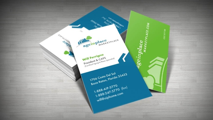 12 best business card design images on pinterest business card design client age in place marketplace reheart Choice Image
