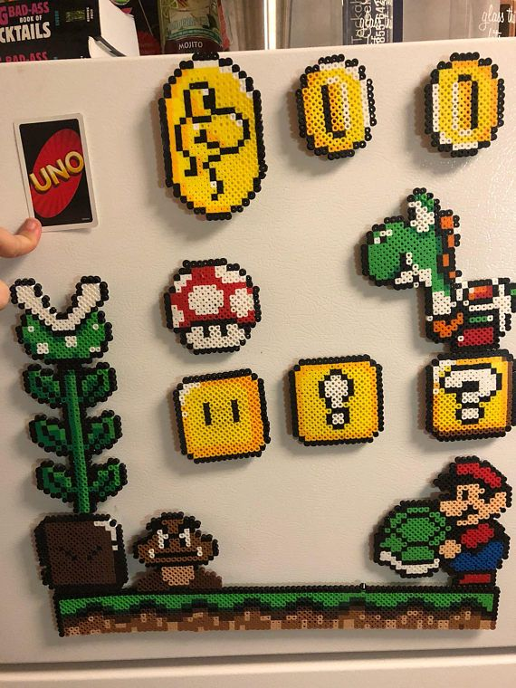Complete set of super mario magnets! They will fit…