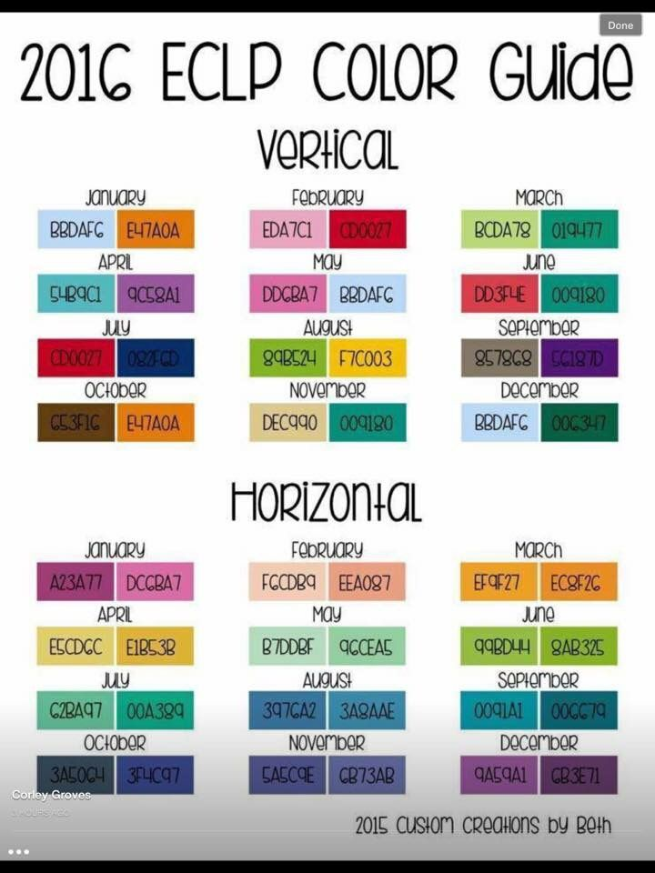 Hex codes erin condren pinterest code for erin for Color coding planner