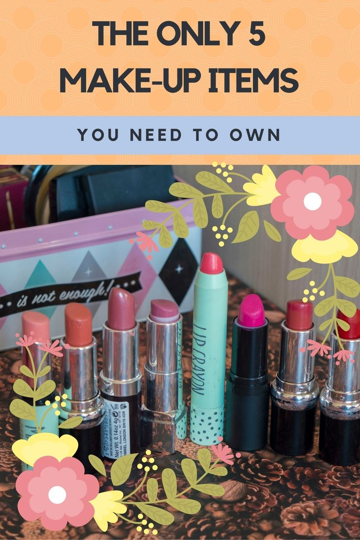 If you're just getting started, you might feel overwhelmed by the endless amount of options available. Or maybe you just want to declutter your make-up stash and keep only a few essentials. So that's why we're going to list down the only 5 make-up items that you really need to own.