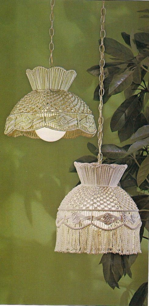 1970s Macrame Lamp Shade Patterns - Craft Book:# OPUS2 Fiber Form & Fantasy 2
