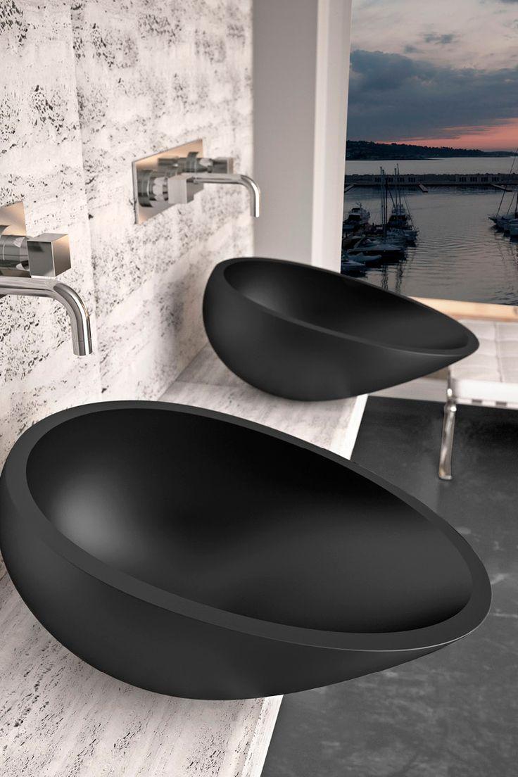 Glass Design's modern bath sink / Air Collection
