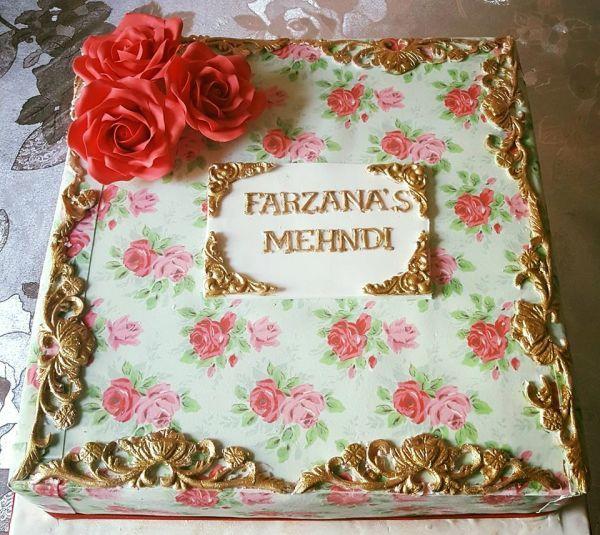 Kath kidston inspired mehndi cake