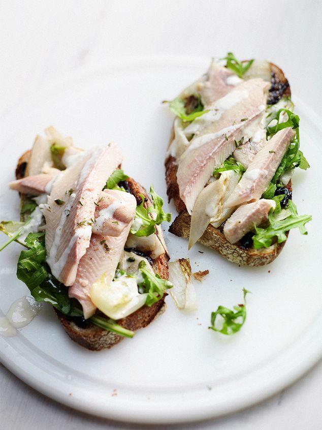 sandwich met gerookte forel en appelstroop | ZTRDG magazine