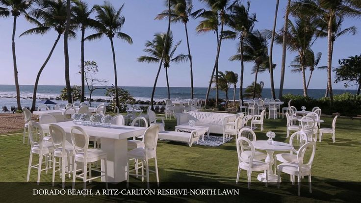Dorado Beach, Ritz Carlton, North Lawn - Set in a rare tropical paradise, this outdoor event space offers breathtaking ocean views and is the perfect destination for your Puerto Rico wedding.