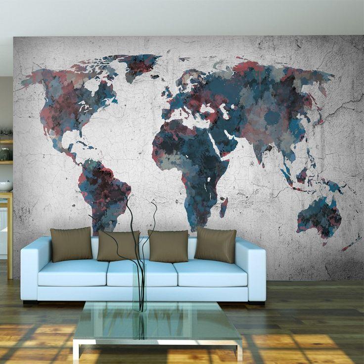 1000 id es sur le th me carte murale du monde sur pinterest mappemonde toiles des cartes du. Black Bedroom Furniture Sets. Home Design Ideas