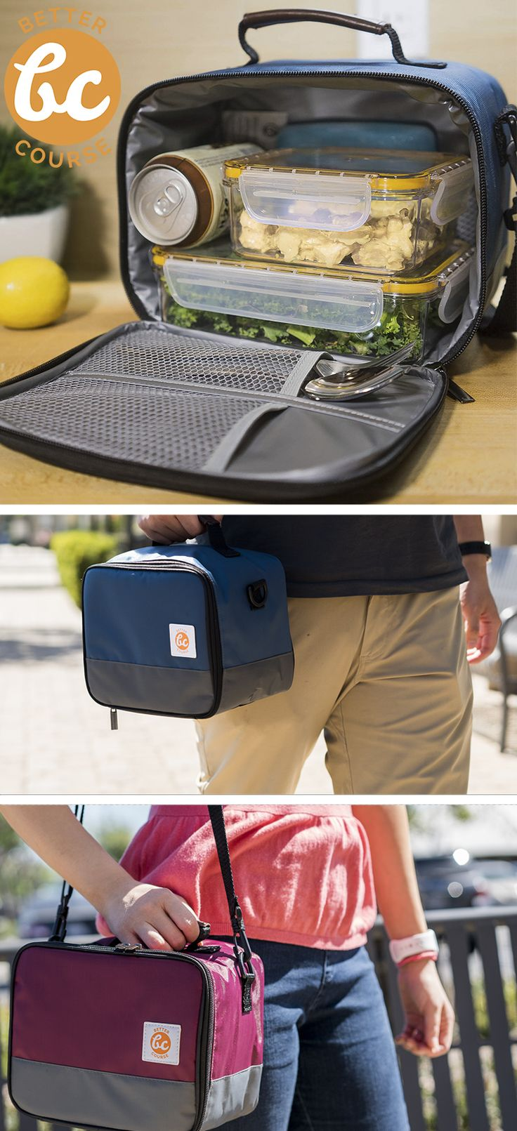 BetterCourse Premium Lunch Bag Kit with FiveGuard Containers [Amazon Exclusive]: This All-In-One insulated lunch solution, which includes both our premium lunch bag and 2 BPA-free containers, is beautiful and affordable for your everyday lunch needs. Everything is leakproof, stainproof, dishwasher safe, insulated, and is provides multiple helpful pockets (for slim ice pack, utensils, protein bars). We know you're sick and tired of lousy lunch bags and containers, so it's time to buy your…