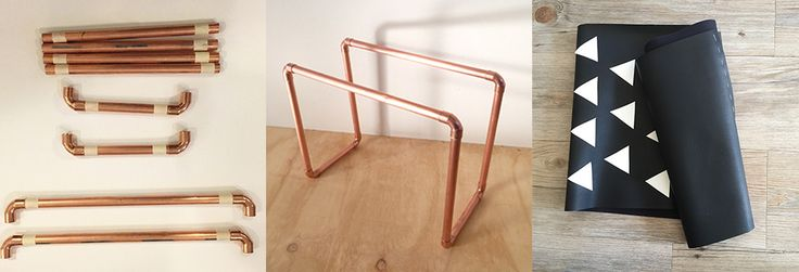 DIY Project - Copper Magazine Rack - Clever Poppy.  This is a project that looks amazing in your home and you will be blown away by how cool it is!