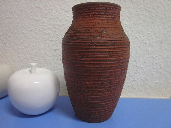 Spara Vase Keramikvase Schamott 50er 60er von Designclassics24