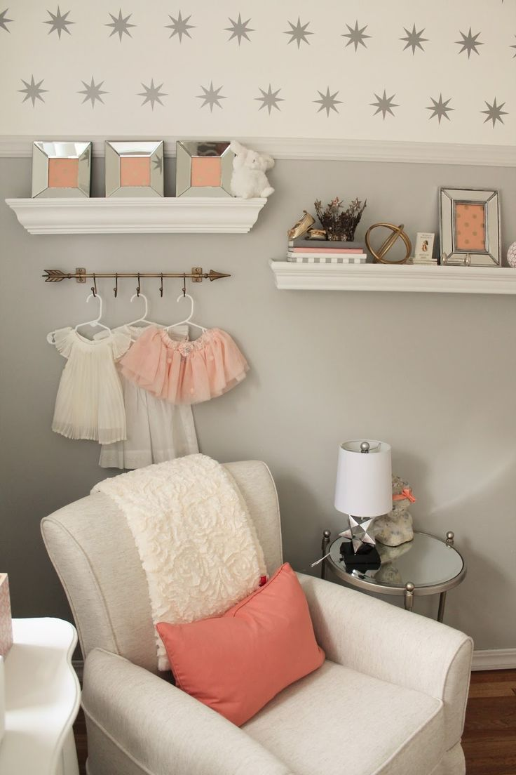 12th and White: Peach and Gray Nursery Reveal                                                                                                                                                     More