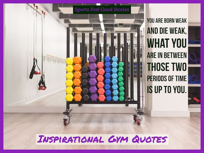 Awesome Gym Quotes For Inspiration And Motivation.