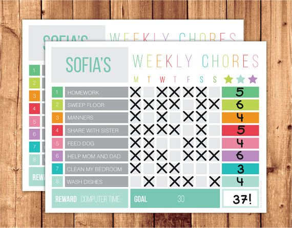 EDITABLE CHORE CHART (Digital File) Make chores easier :) All text in this chore chart is editable exepting the weekly chores title. This listing is DIY & instant download. Print as many as you need for your personal use and make it reusable by laimanting it. You can type your own