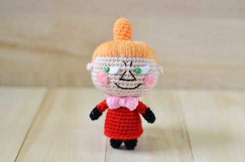 """Little My Doll from """"The Moomins"""" Free Amigurumi Pattern http://amigurumei.com/2014/04/21/little-my-from-the-moomins-free-amigurumi-pattern/"""