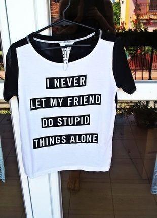 Kup mój przedmiot na #vintedpl http://www.vinted.pl/damska-odziez/koszulki-z-krotkim-rekawem-t-shirty/14406212-t-shirt-sinsay-mgielka-czarno-bialy-idealny-na-lato-wakacje