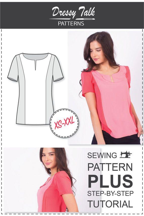 Women'S Blouse Sewing Patterns Free 94