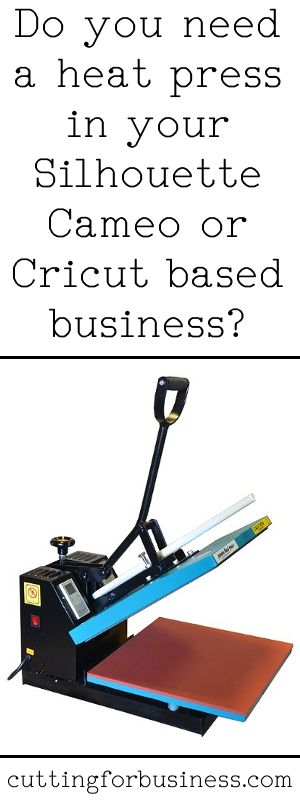Do you need a heat press in your Silhouette or Cricut based business? - by cuttingforbusiness.com