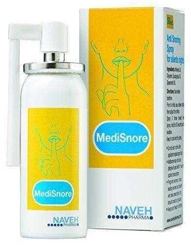 Medisnore Anti Schnarch Spray von Naveh Schnarchstopper gegen Schnarchen Stop