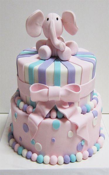 Perfect babyshower cake!!: Shower Ideas, Elephant Cakes, Cakes Ideas, Baby Shower Cakes, Pink Elephants, Baby Cakes, Birthday Cakes, Elephants Cakes, Baby Shower
