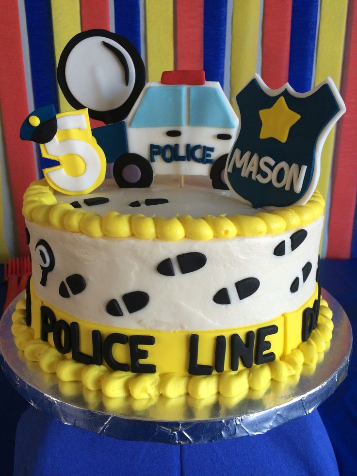 Police Officer Birthday Cake