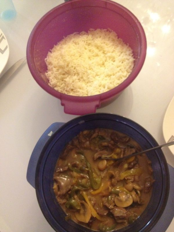 Bœuf a la chinoise au microcook mon nouvel ami! - Tupperware