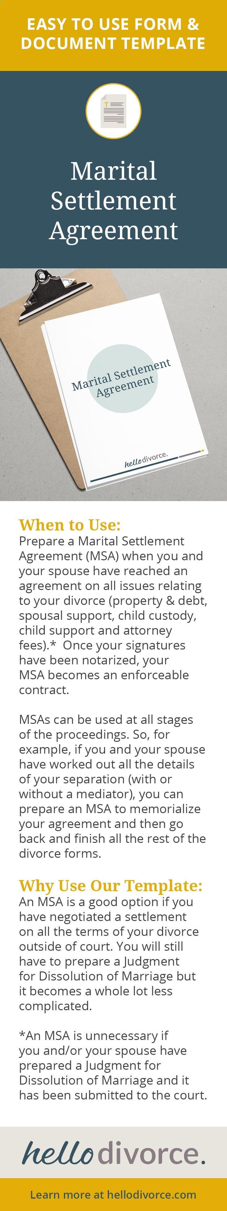 sample divorce mediation agreement