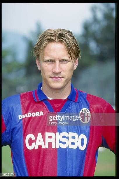 A portrait of Kennet Andersson of Bologna taken during the club photocall Mandatory Credit Allsport UK