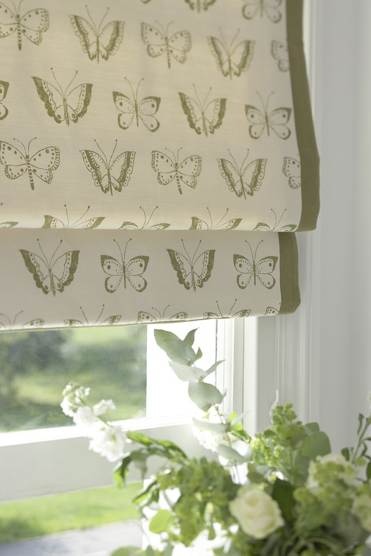 Patterned Roman Shades | Window Treatments