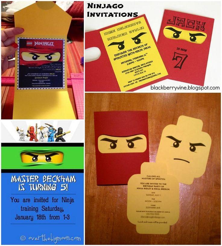ninjago party invitations  lego ninjago birthday lego