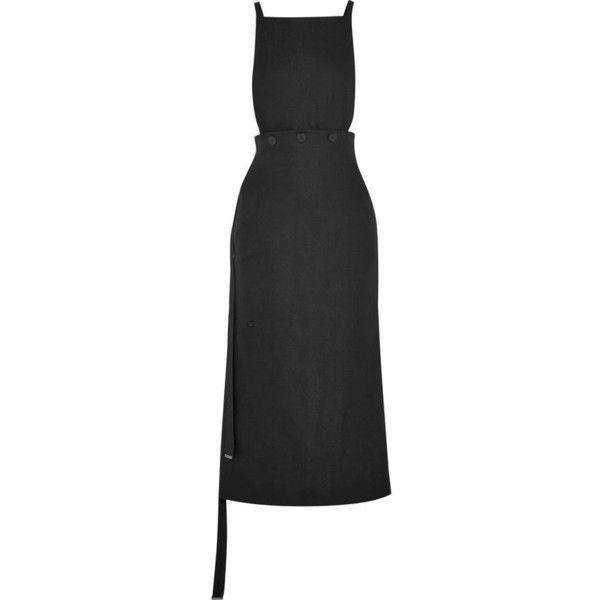 JOSEPH Idaho crepe midi dress (8 405 UAH) ❤ liked on Polyvore featuring dresses, midi day dresses, crepe fabric dress, midi dress, joseph dresses and mid calf dresses