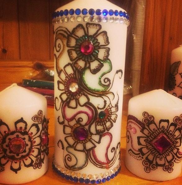 Mehndi Henna Candles : Best images about henna kaarsen on pinterest