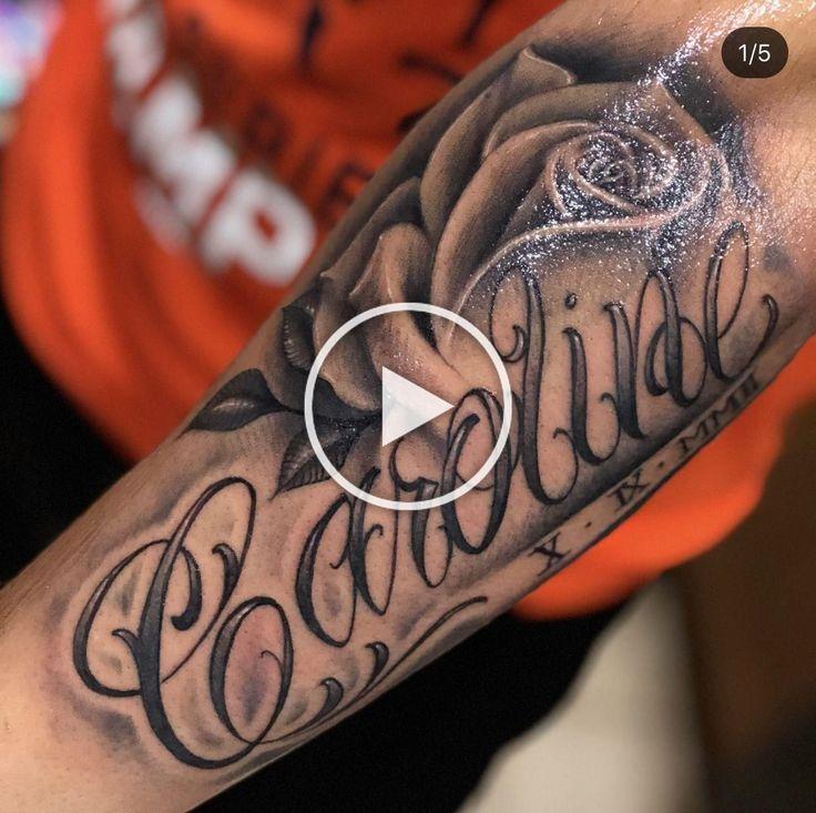 Pin On Tattoo Arm Forearm Name Tattoos Baby Tattoos Cursive Tattoos