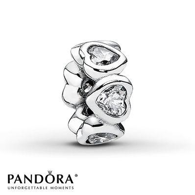Pandora Charm Clear CZ Sterling Silver