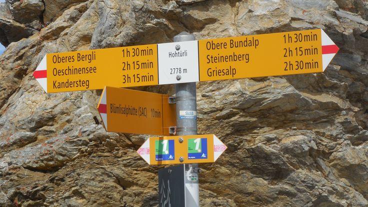 Pass no 9: Hohtürli, between Griesalp and Kandersteg. (Via Alpina Switzerland)