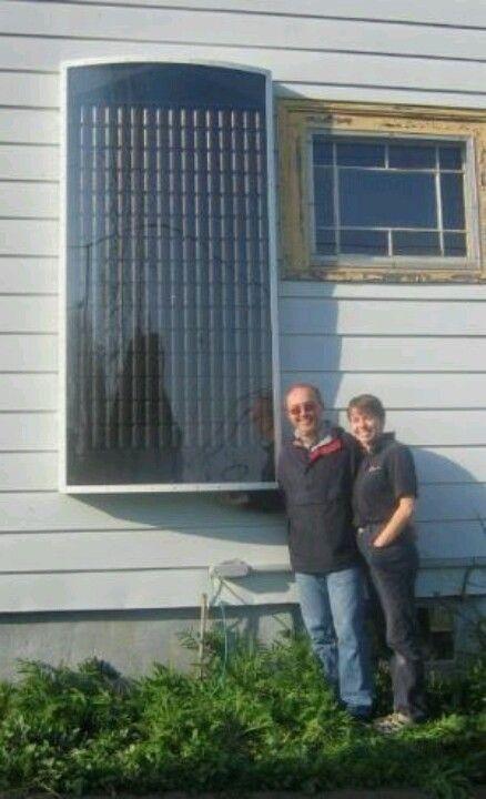 Home made solar heater.