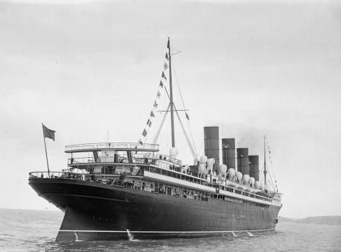 The Cunard liner RMS Mauretania broke the record for the fastest eastbound transatlantic crossing in 1907