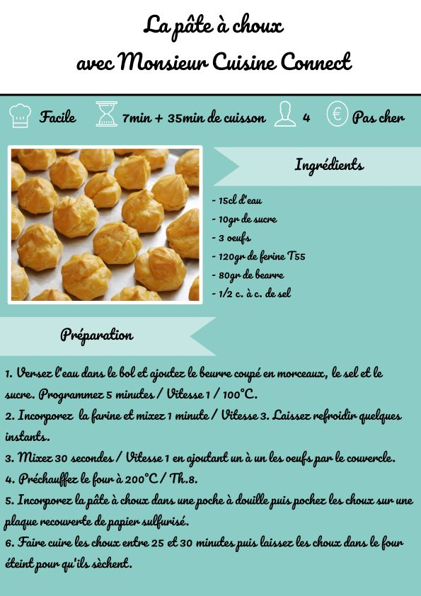c3f737ef14df8ced8c9a98fdf5b47438 - Mr. Cuisine Connect Lidl Choux Pastry Recipe