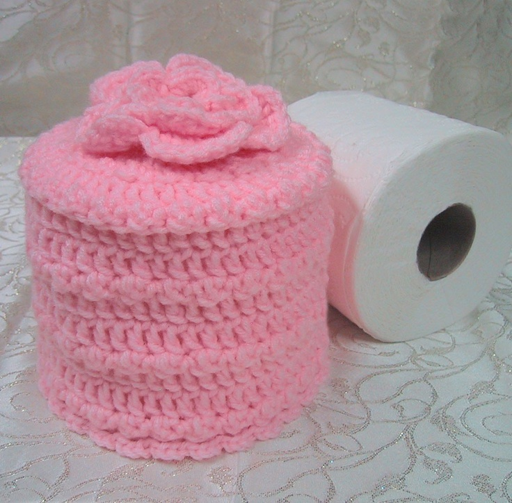 All About Crocheted Toliet Paper Pattern Crocheted Bath Patterns