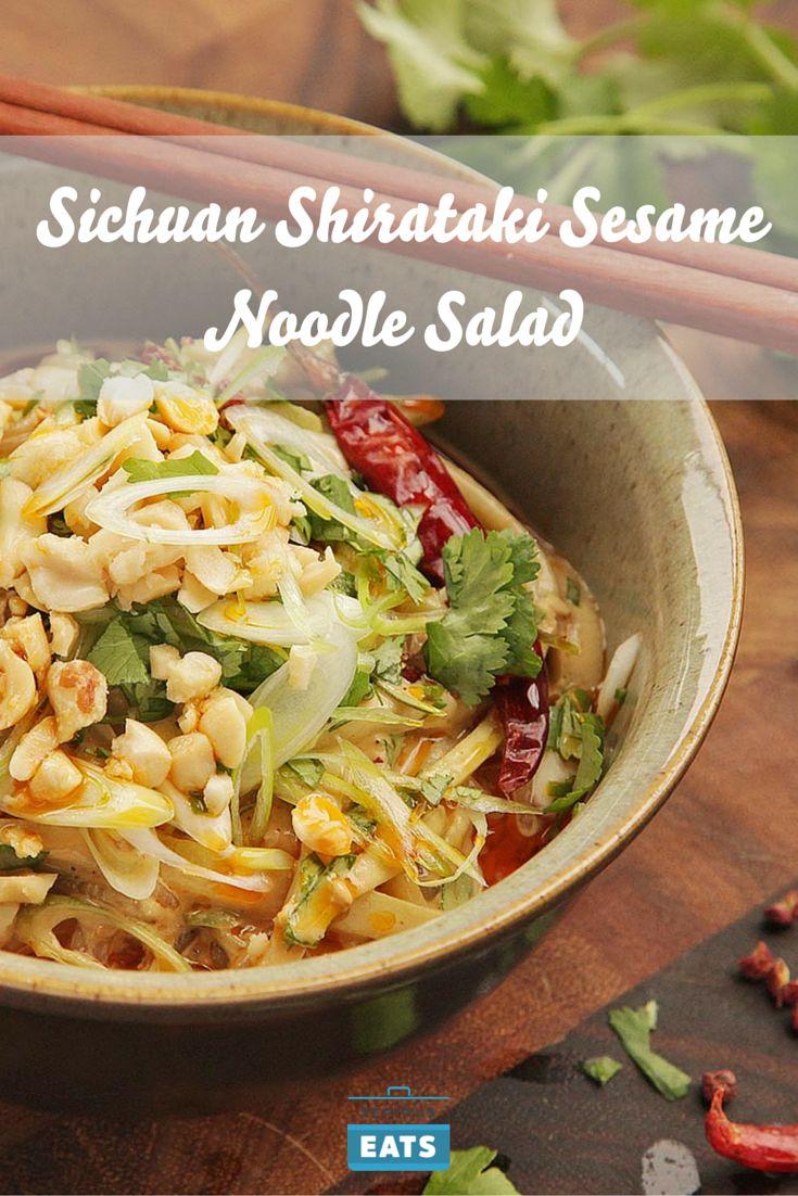 Slick shirataki noodles with chili oil, Sichuan peppercorn, and ...