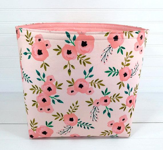 Boho Nursery Storage Bin Large 10 X 10 Fabric Storage Bin Fabric Basket Home Decor Bin Storage B With Images Fabric Storage Baskets Fabric Storage Bins Nursery Storage Bin