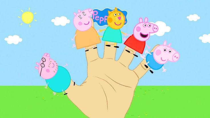 Peppa Pig George Mummy Daddy Finger Family Song Nursery Rhymes