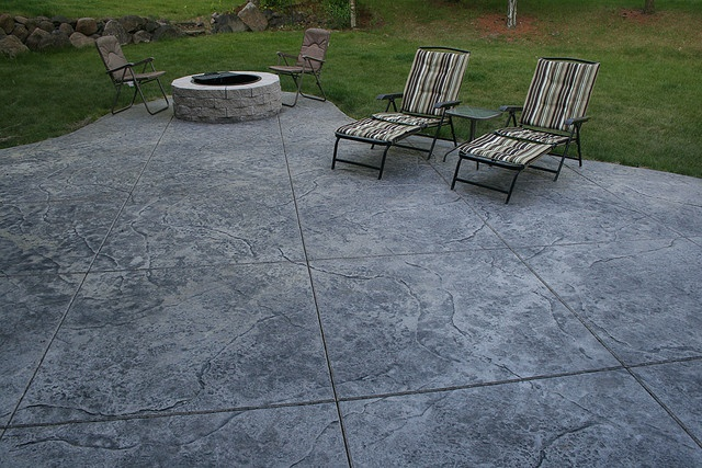 Seamless Stamped Concrete Patio Natural With Grey