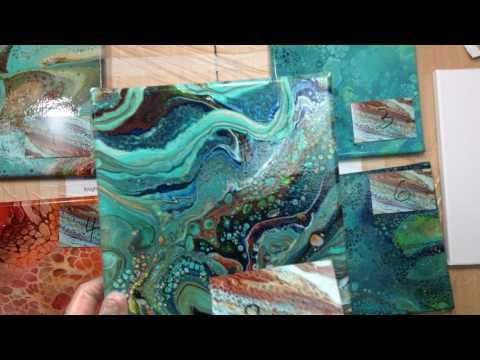 Fluid Acrylic Pouring Swipe And Spin Technique Test 1