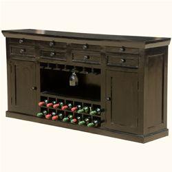 "Nottingham Solid Wood 72"" Classic Wine Bar Cabinet"